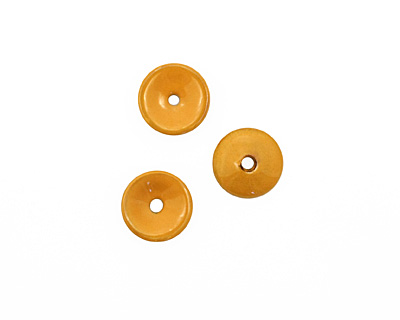C-Koop Enameled Metal Dark Mustard Chip 3-4x12-13mm