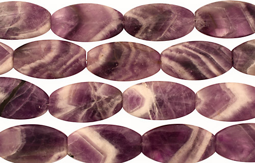 Dogtooth Amethyst Flat Ended Oval 45x25mm
