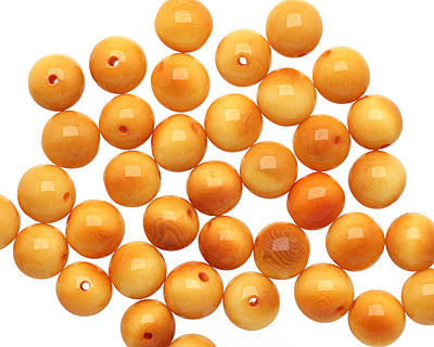 Tagua Nut Gold Round 11-12mm