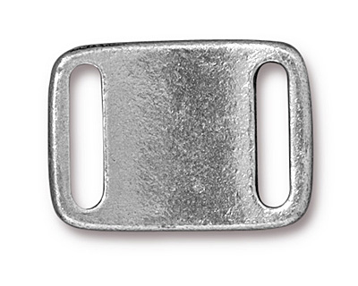 TierraCast Antique Pewter (plated) Frame Slide Link 24x17mm