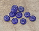 African Recycled Glass Sapphire Mini Donut 13-14mm