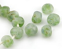 African Recycled Glass Spring Green Large Bead 18x23mm