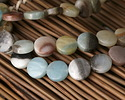 Black Gold Amazonite Puff Coin 12mm