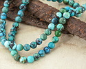 Green Blue Hubei Turquoise (A - more green) Round 3mm
