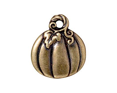 TierraCast Antique Brass (plated) Jack O'Lantern Charm 15x18mm