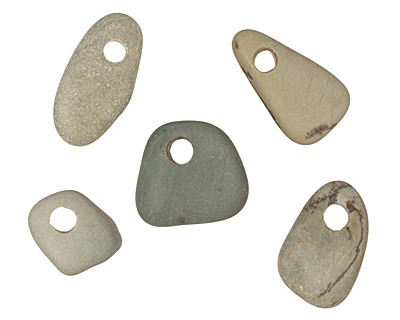 Green/Blue Beach Stone Pebble 8-12x10-16mm