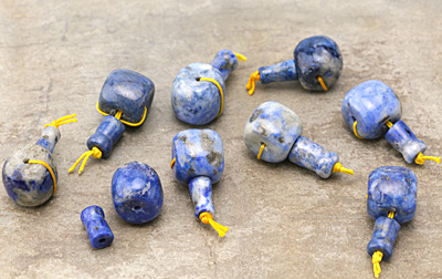 Lapis Barrel Guru Bead 16mm
