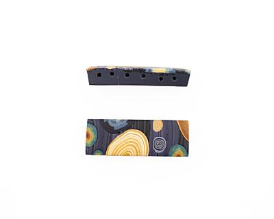 Humble Beads Polymer Clay Van Gogh's Starry Night 6 Hole Cuff 11-12x34-35mm