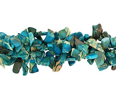 Turquoise Impression Jasper Flat Freeform Drop 8-25x19-44mm