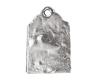 Rustic Charms Sterling Silver Good Boy Tag Charm 11x16mm