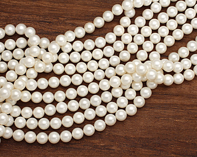 Cream Shell Pearl Round 12mm