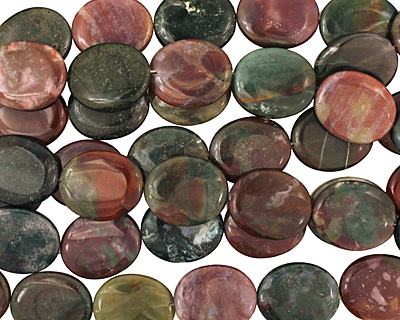Fancy Jasper Flat Oval 30x25mm