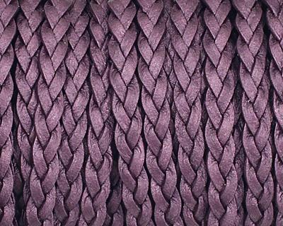 Berry (metallic) Flat Braided Leather Cord 5mm
