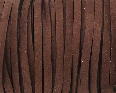 Chocolate Deerskin Leather Lace 1/8