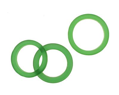 Trinket Foundry Green Found Glass Bottle Ring 27-29x5-7mm