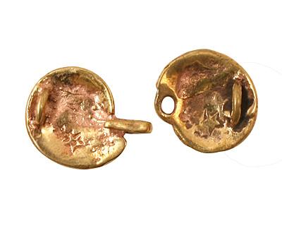 Green Girl Bronze Seashell Clasp 17x33mm