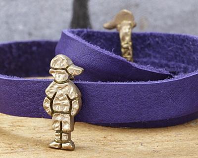 Patricia Healey Bronze Boy in Hat 10mm Flat Slide 9x21mm