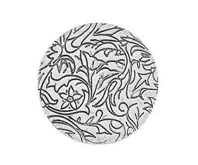 Nunn Design Antique Silver (plated) Crest Grande Circle Tag 31mm