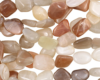 Moonstone (multi) Tumbled Nugget 18-23x15-18mm