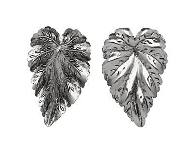 Stampt Antique Pewter (plated) Large Leaf 20x32mm (no drill hole)