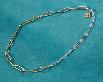 Satin Hamilton Gold (plated) Paperclip Chain