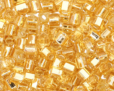 TOHO Light Topaz (with Silver Lining) Cube 1.5mm Seed Bead