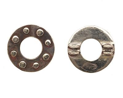 Saki White Bronze Dotted Ring Spacer 22mm