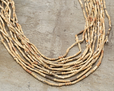 African Clay Seed Beads and Tubes 2-10x2mm