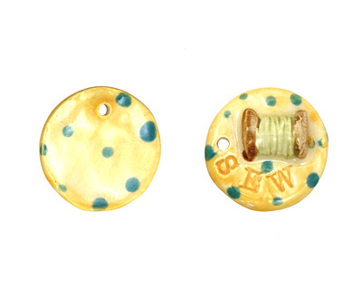 Jangles Ceramic Sew Pendant 29mm