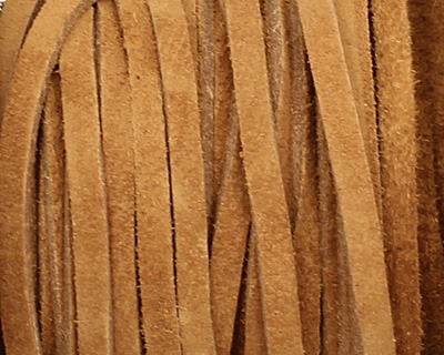 Camel Suede Leather Lace 3mm