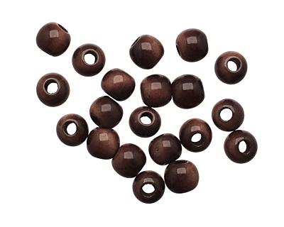 Tagua Nut Dark Brown Round 6mm