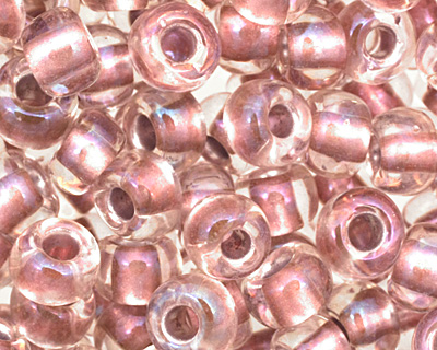 TOHO Crystal (with Rose Gold Lining) Round 6/0 Seed Bead