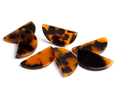 Zola Elements Tortoise Shell Acetate Half Circle Link 30x15mm