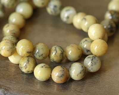 Yellow African Opal Round 10mm