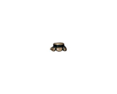 TierraCast Antique Brass (plated) Scalloped Bead Cap 4mm
