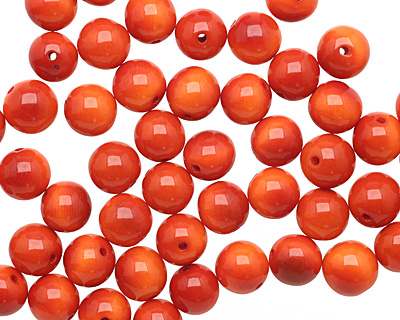 Tagua Nut Orange Round 11-12mm
