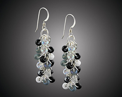 Weave Got Maille Shades of Grey Shaggy Loops Earring Kit