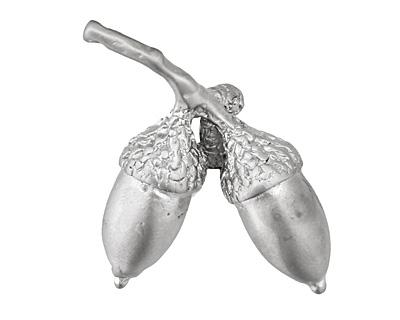 Ezel Findings Rhodium (plated) Acorn Branch Pendant 25x30mm