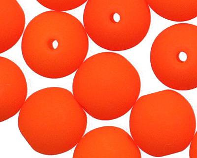 Czech Glass Bright Neon Orange Round 6mm