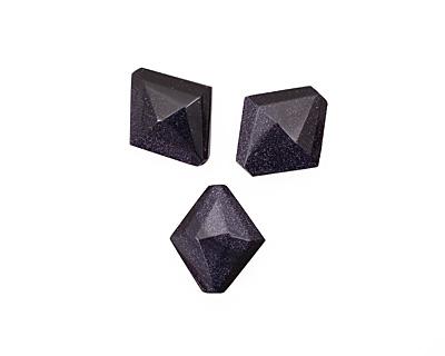 Blue Goldstone Faceted Diamond 30xmm