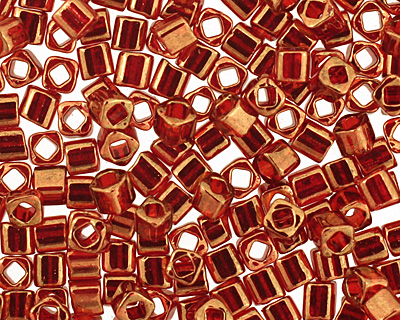 TOHO Gold Lustered African Sunset Cube 1.5mm Seed Bead