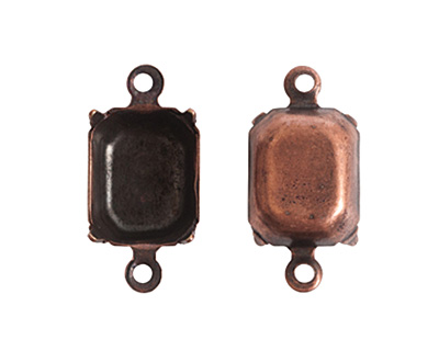 Nunn Design Antique Copper (plated) Octagon Prong Setting 17x9mm