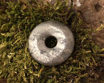Golden Pyrite Donut 25mm