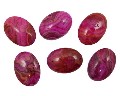 Ruby Crazy Lace Agate Oval Cabochon 18x25mm