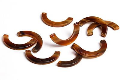 Zola Elements Brown Sugar Acetate U-Shape Y-Connector 30x15mm