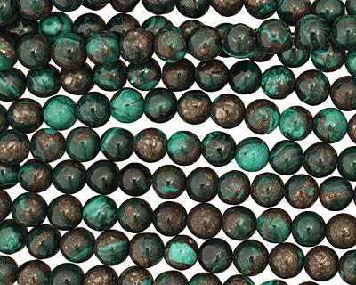 Malachite & Pyrite Round 10mm
