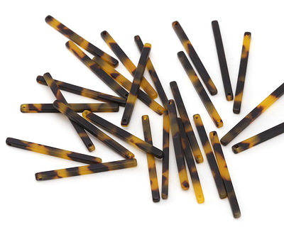 Zola Elements Tortoise Shell Matte Acetate Stick Drop 3x39mm