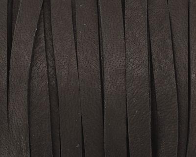 Black Deerskin Leather Lace 3/16