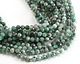 Green Chalcedony Faceted Round 4mm