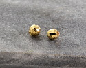Gold (plated) Faceted Round Bead 3mm